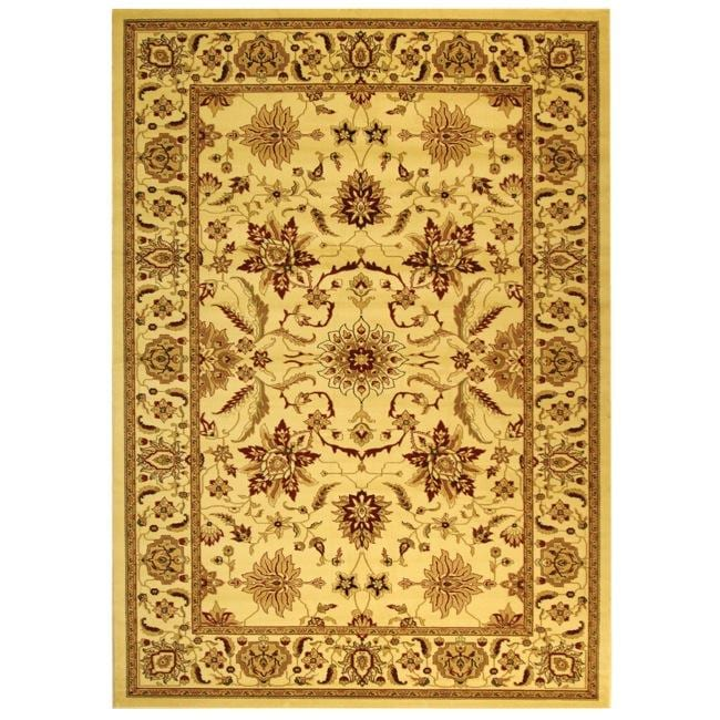 Safavieh Lyndhurst Collection Heritage Ivory/ Ivory Rug (9' x 12')