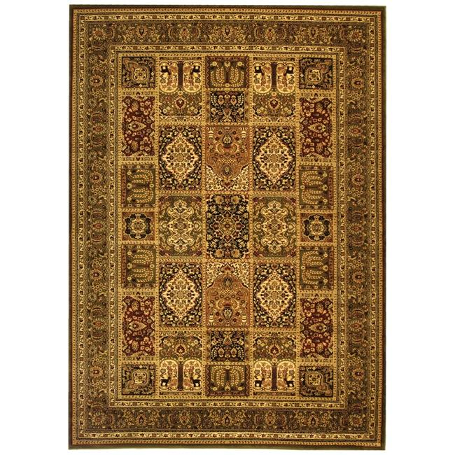 Safavieh Lyndhurst Collection Isfan Green/ Multi Rug (4' x 6')