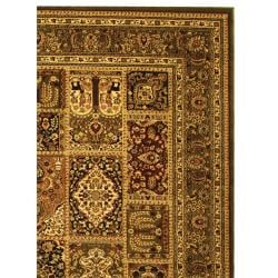 Lyndhurst Collection Isfan Green/ Multi Rug (4' x 6')
