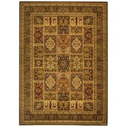 Lyndhurst Collection Isfan Green/ Multi Rug (9' x 12')