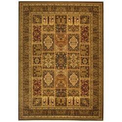 Safavieh Lyndhurst Collection Isfan Green/ Multi Rug (9' x 12')