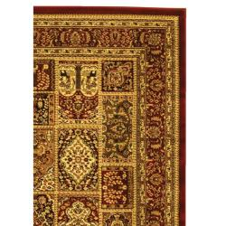 Lyndhurst Collection Isfan Red/ Multi Rug (4' x 6')