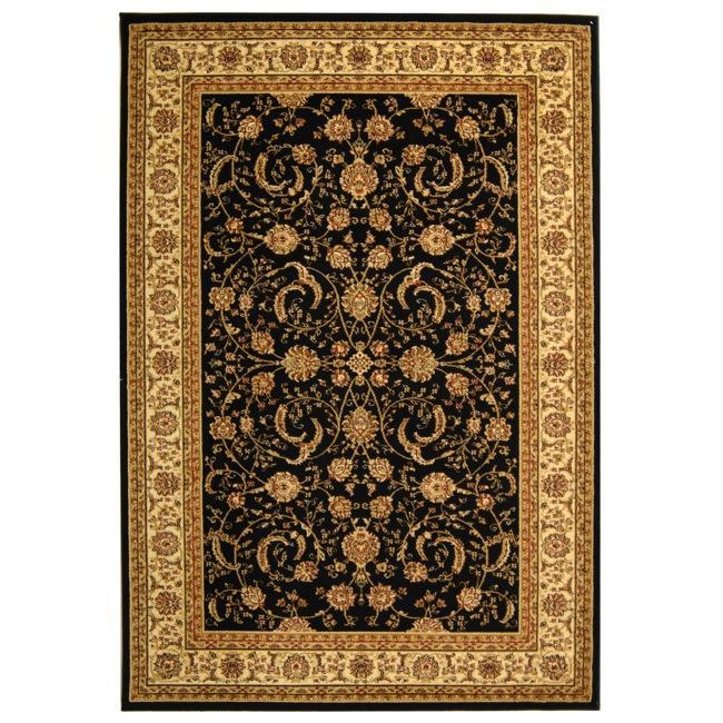 Safavieh Lyndhurst Collection Black/ Ivory Rug (9' x 12')