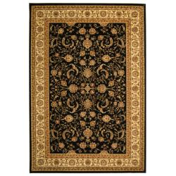 Lyndhurst Collection Black/ Ivory Rug (9' x 12')