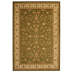 Lyndhurst Collection Sage/Ivory Traditional Rug (9' x 12')