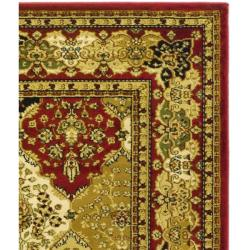 Lyndhurst Collection Traditional Multicolor/Red Rug (9' x 12')