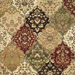 Lyndhurst Collection Multicolor/ Beige Rug (4' x 6')