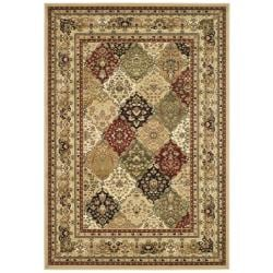 Lyndhurst Collection Multicolor/ Beige Rug (9' x 12')