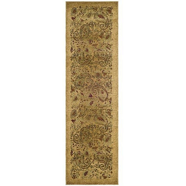 Lyndhurst Collection Paisley Beige/ Multi Runner (23 X 12)