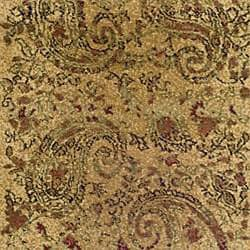 Lyndhurst Collection Paisley Beige/ Multi Runner (2'3 x 12')