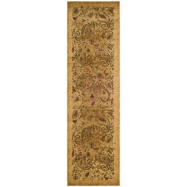 Safavieh Lyndhurst Collection Paisley Beige/ Multi Runner (2'3 x 12')