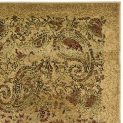 Lyndhurst Collection Paisley Beige/ Multi Runner (2'3 x 8')