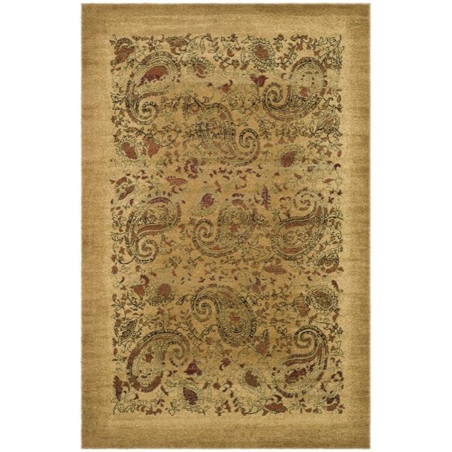 Lyndhurst Collection Paisley Beige/ Multi Rug (3 X 5 3)