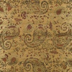Lyndhurst Collection Paisley Beige/ Multi Rug (3' 3 x 5' 3)