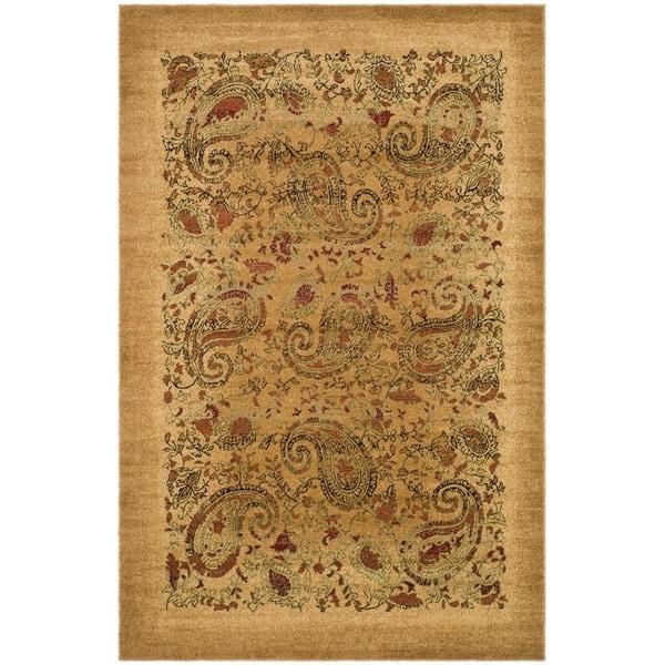 Safavieh Lyndhurst Collection Paisley Beige/ Multi Rug (3' 3 x 5' 3)