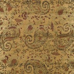 Lyndhurst Collection Paisley Beige/ Multi Rug (4' x 6')