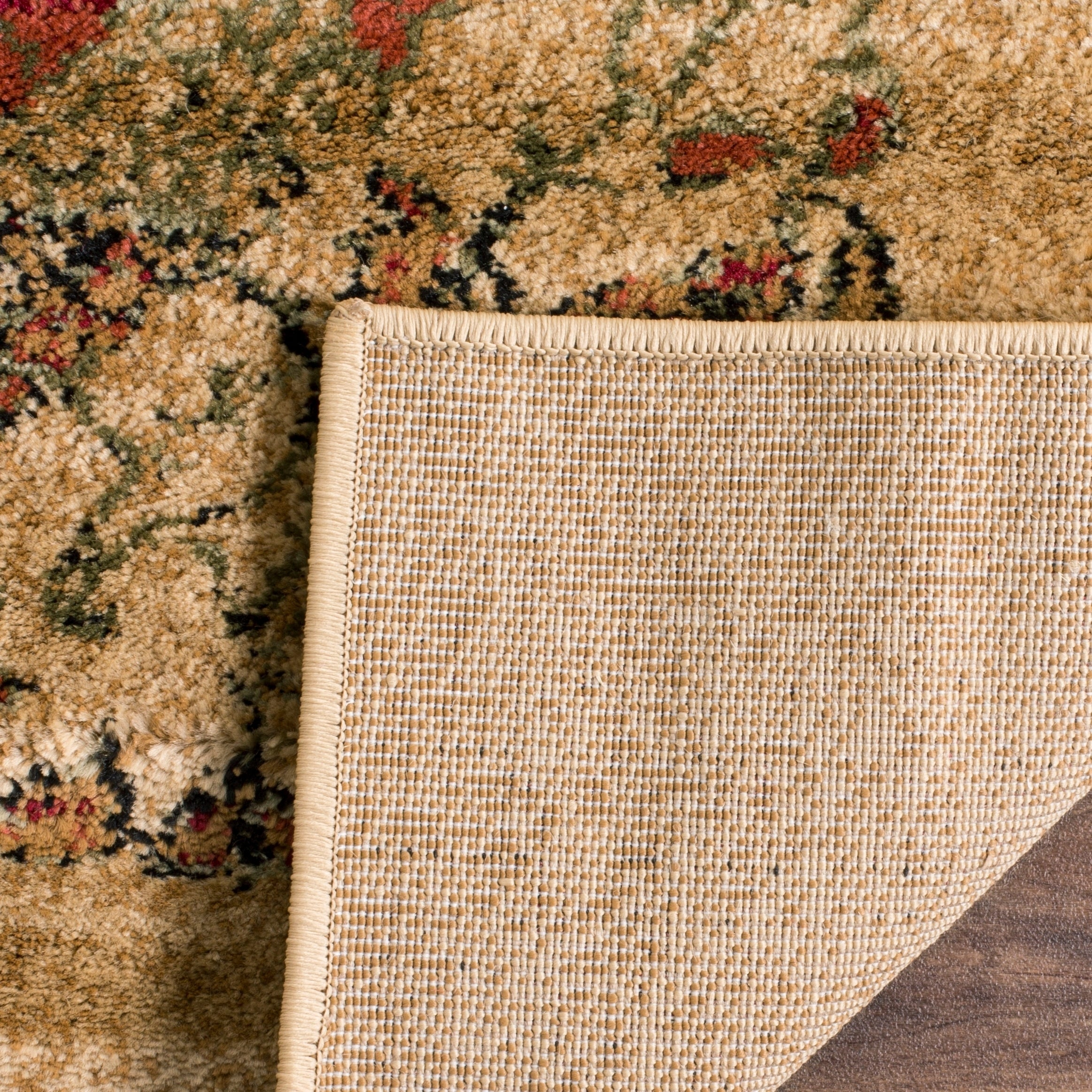 Lyndhurst Collection Paisley Beige/ Multi Rug (4 X 6)