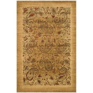 Safavieh Lyndhurst Collection Paisley Beige/ Multi Rug (4' x 6')