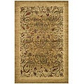 Lyndhurst Collection Paisley Beige/ Multi Rug (5' 3 x 7' 6)