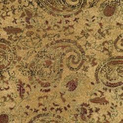 Safavieh Lyndhurst Collection Paisley Beige/ Multi Rug (5' 3' Round)