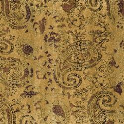 Lyndhurst Collection Paisley Gold/ Multi Rug (6' Square) Safavieh Round/Oval/Square