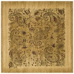 Lyndhurst Collection Paisley Gold/ Multi Rug (6' Square)