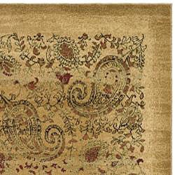 Lyndhurst Collection Paisley Beige/ Multi Rug (8' x 11')