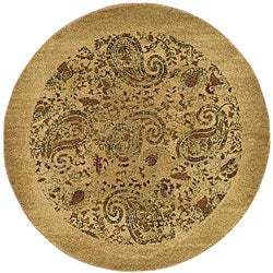 Lyndhurst Collection Paisley Beige/ Multi Rug (7' 10 Round)