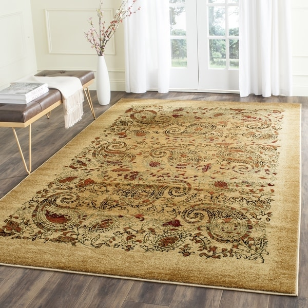 Safavieh Lyndhurst Collection Paisley Beige/ Multi Rug (8' Square)
