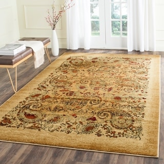 Safavieh Lyndhurst Collection Paisley Beige/ Multi Rug (9' x 12')