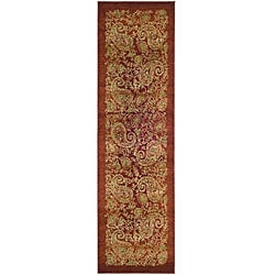 Lyndhurst Collection Paisley Red/ Multi Runner (2'3 x 12')