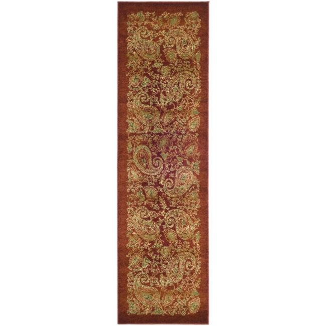 Safavieh Lyndhurst Collection Paisley Red/ Multi Runner (2'3 x 8')