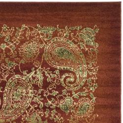 Lyndhurst Collection Paisley Red/ Multi Rug (3'3 x 5'3)