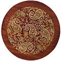 Lyndhurst Collection Paisley Red/ Multi Rug (5' 3' Round)