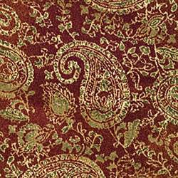 Lyndhurst Collection Paisley Red/ Multi Rug (8' Round)