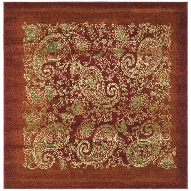 Lyndhurst Collection Paisley Red/ Multi Rug (8 Square)