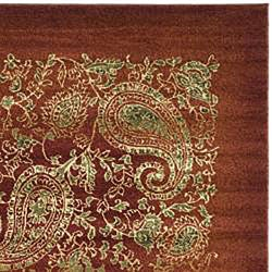 Lyndhurst Collection Paisley Red/ Multi Rug (9' x 12')
