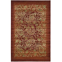Safavieh Lyndhurst Collection Paisley Red/ Multi Rug (9' x 12')