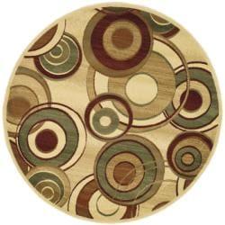 Safavieh Lyndhurst Collection Circ Ivory/ Multi Rug (5' 3' Round)
