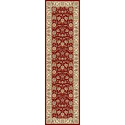 Safavieh Lyndhurst Collection Floral Burgundy/ Ivory Runner (2'3 x 6')