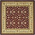 Safavieh Lyndhurst Collection Floral Burgundy/ Ivory Rug (8' Square)