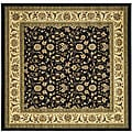 Safavieh Lyndhurst Collection Traditional Oriental Black/ Ivory Rug (6' Square)