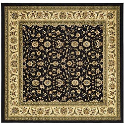 Safavieh Lyndhurst Collection Traditional Black/Ivory Area Rug (8' Square)