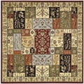 Lyndhurst Traditional Multicolor/ Ivory Rug (6' Square)
