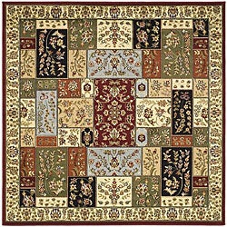 Lyndhurst Traditional Multicolor/ Ivory Rug (8' Square)