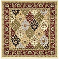 Lyndhurst Collection Multicolor/ Red Rug (8' Square)
