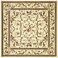 Lyndhurst Collection Traditional Ivory/ Ivory Rug (6' Square)