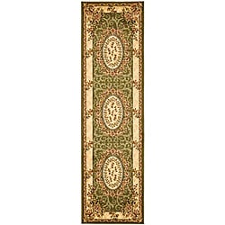 Safavieh Lyndhurst Collection Aubussons Sage/ Ivory Runner (2'3 x 6')