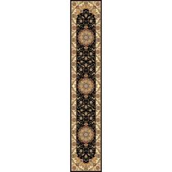 Lyndhurst Collection Traditional Black/ Ivory Runner (2' 3 x 16')