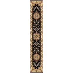 Safavieh Lyndhurst Collection Traditional Black/ Ivory Runner (2' 3 x 16')